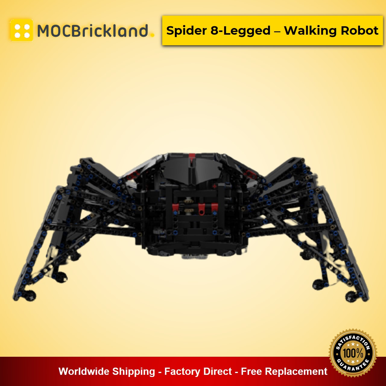 Spider 8-Legged – Walking Robot MOC-48024 Creator Designed By technicrocks With 1462 Pieces