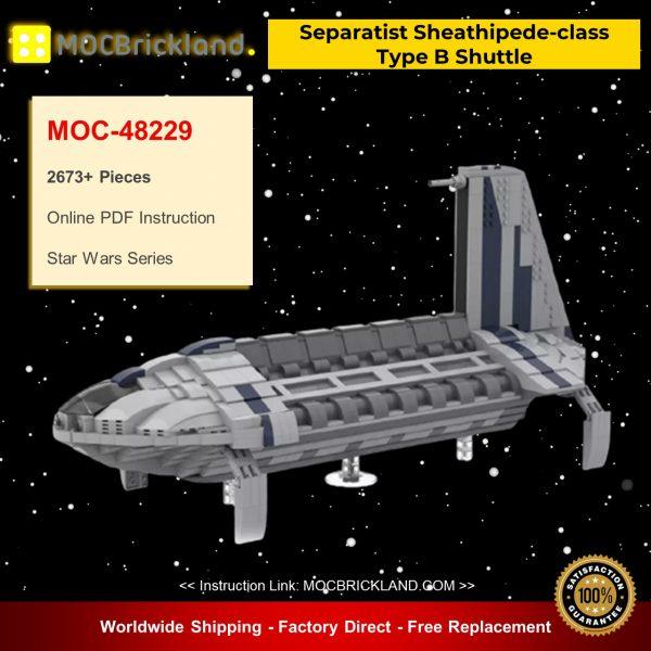 MOC-48229 Separatist Sheathipede-class Type B Shuttle Star Wars Designed By starwarsfan66 With 2673 Pieces