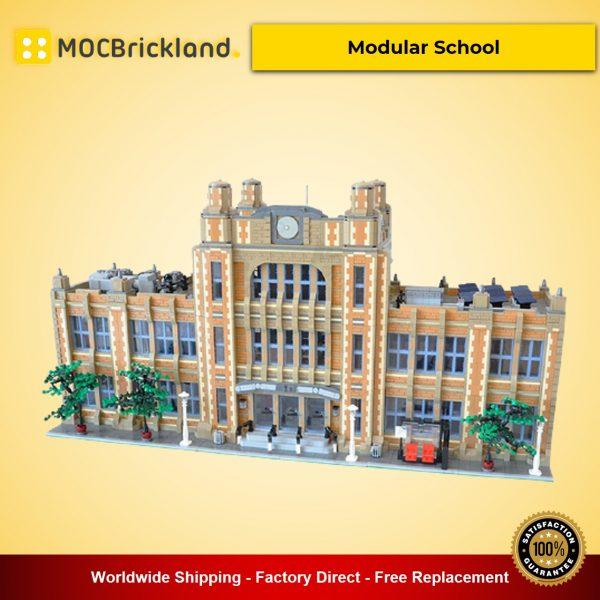 Modular School MOC-49130 Modular Buildings Designed By peedeejay With 14412 Pieces