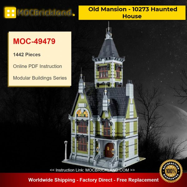 MOC-49479 Modular Buildings Old Mansion – 10273 Haunted House Designed By Das_Felixle With 1442 Pieces
