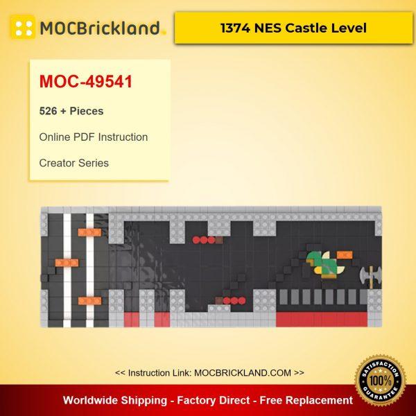 MOC-49541 Creator 71374 NES Castle Level – Super Mario Designed By enochgray With 526 Pieces