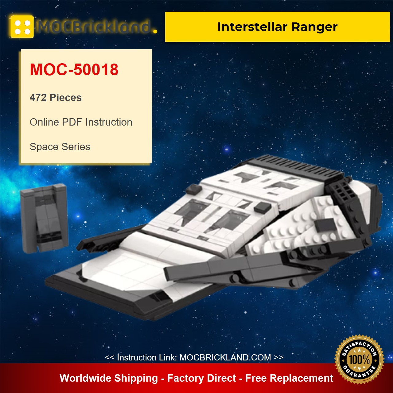 Interstellar Ranger MOC-29014 Space Designed By plan With 472 Pieces