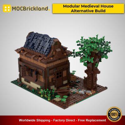 MOC-50031 Modular Buildings 21318 Modular Medieval House Alternative Build Designed By gabizon With 1141 Pieces