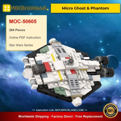 Micro Ghost & Phantom MOC-50605 Star Wars Designed By ron_mcphatty With 294 Pieces