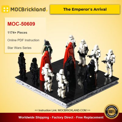 The Emperor's Arrival Star Wars MOC-50609 Designed By onecase Star Wars With 1174 Pieces