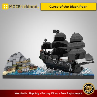 MOC-51322 Curse of the Black Pearl Movie Designed By benbuildslego With 400 Pieces