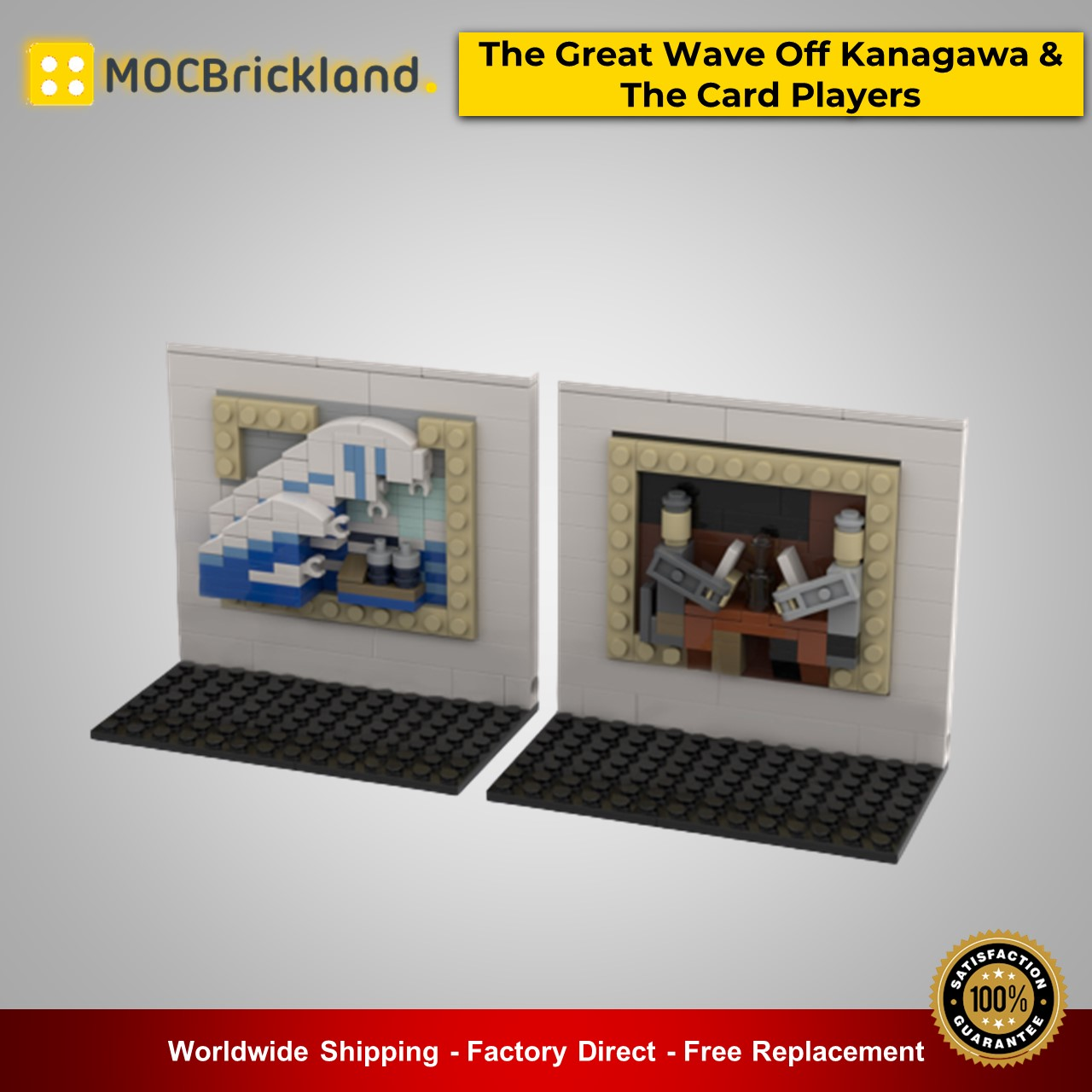 3D Mini Masterpiece – The Great Wave Off Kanagawa & The Card Players MOC-51794 Creator Designed By beewiks With 267 Pieces