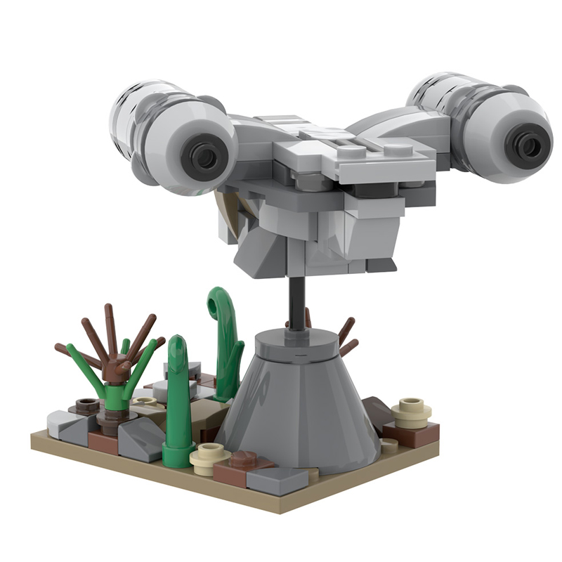 Razor Crest Star Wars MOC-51912 by loreart with 144 Pieces
