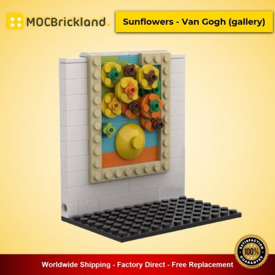 MOC-52297 Creator Sunflowers – Van Gogh (gallery) Dessigned By Lenarex With 92 Pieces