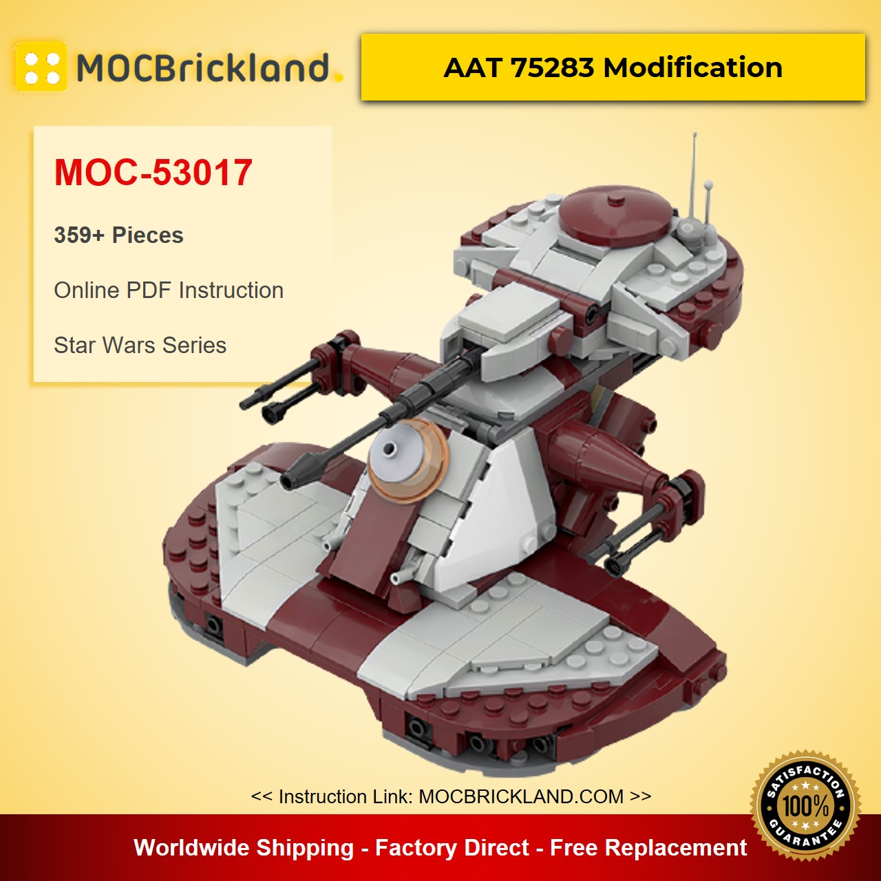 AAT 75283 Modification MOC-53017 Star Wars Designed By 2bricksofficial With 359 Pieces