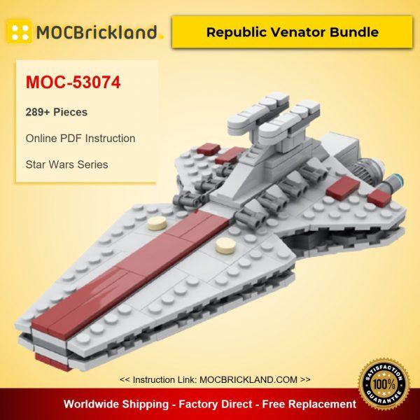 Republic Venator Bundle MOC-53074 Star Wars Designed By scoutthetrooper With 289 Pieces