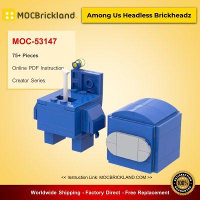 MOC-53147 Creator Among Us Headless Brickheadz Designed By dia_slime With 75 Pieces
