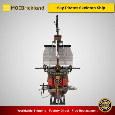 31109 Sky Pirates Skeleton Ship MOC-53448 Creator Designed By MadMocs With 662 Pieces