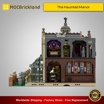 The Haunted Manor MOC 54244 Modular Building Designed By ZeRadman With 3966 Pieces