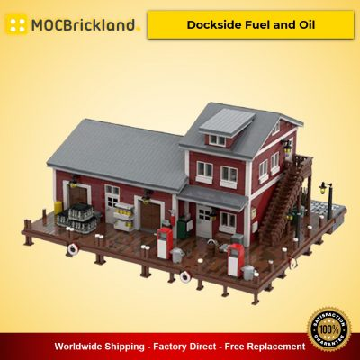 Dockside Fuel and Oil MOC-54693 Modular Buildings Designed By jepaz With 5626 Pieces