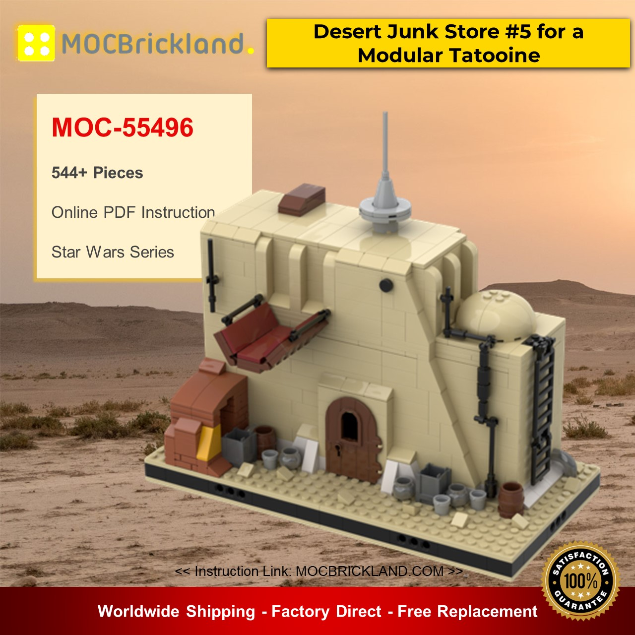 Desert Junk Store #5 for a Modular Tatooine MOC-55496 Star Wars Designed By gabizon With 544 Pieces