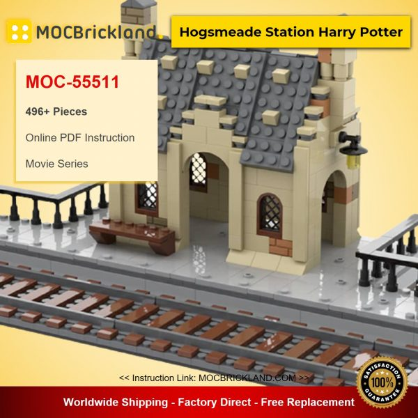 Hogsmeade Station Harry Potter MOC-55511 Movie Designed By 55511 With 496 Pieces