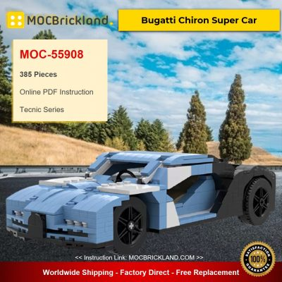 MOC-55908 Technic Bugatti Chiron Super Car Designed By Giganbrick With 385 Pieces