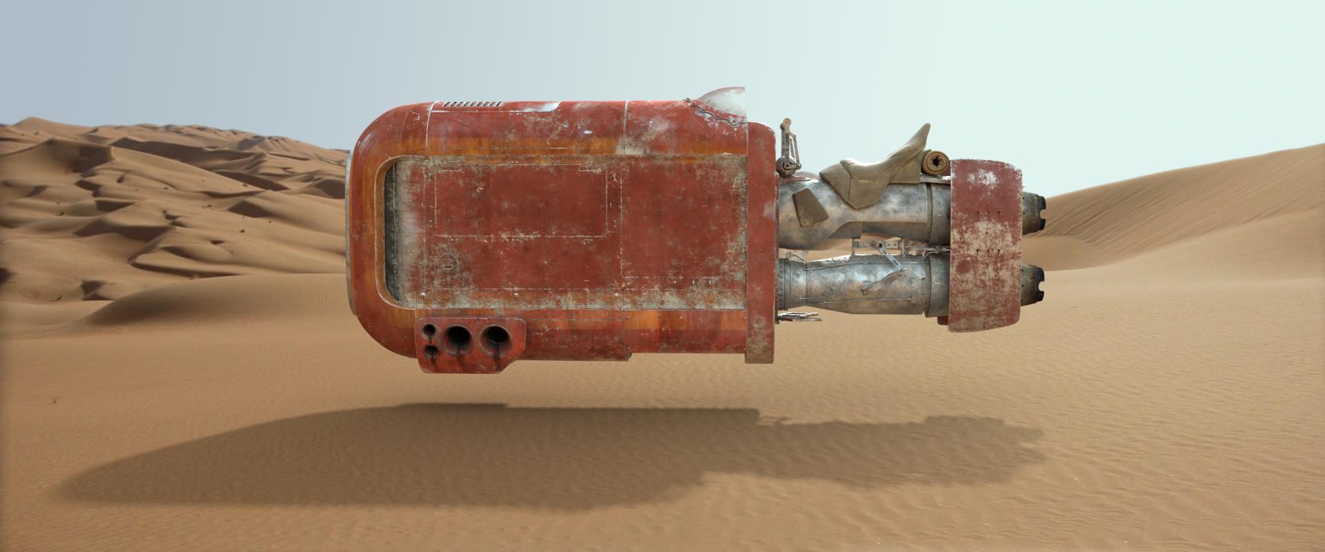 Rey's Speeder MOC-56363 Star Wars Designed By JohndieRocks With 168 Pieces