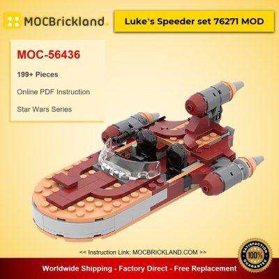 Luke's Speeder set 76271 MOD Star Wars Designed By ron_mcphatty With 199 Pieces