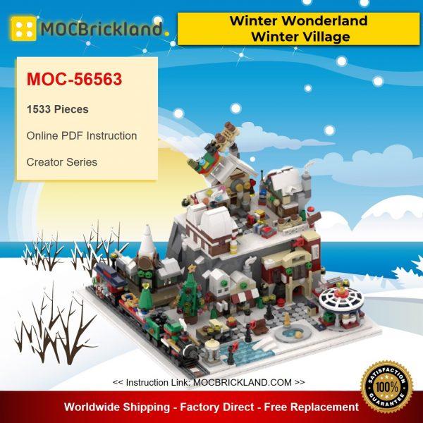 MOC-35607 Creator Winter Wonderland – Winter Village By MOMAtteo79 With 1533 Pieces