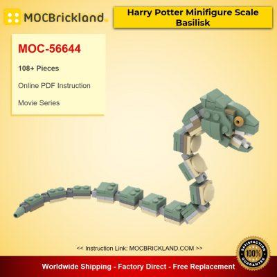 Harry Potter Minifigure Scale Basilisk MOC-56644 Movie Designed By Basilisk With 108 Pieces