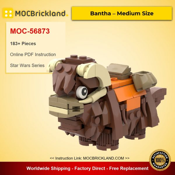 Bantha – Medium Size MOC-56873 Star Wars Designed By Kimnotyze With 183 Pieces