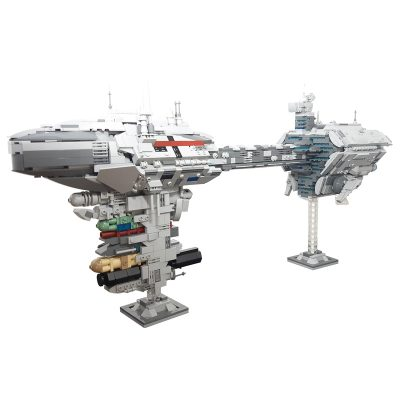 Nebulon-B Escort Frigate MOC-57273 Star Wars Designed By Jedimasterels With 1988 Pieces