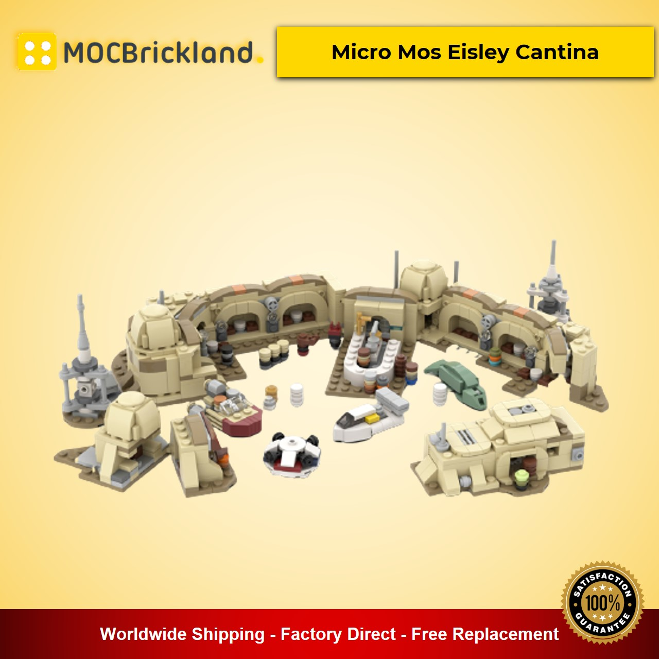 Micro Mos Eisley Cantina MOC-57537 Star Wars Designed By ron_mcphatty With 865 Pieces