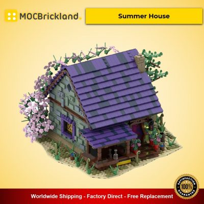 Summer House MOC-57928 Modular Buildings Designed By povladimir With 2371 Pieces