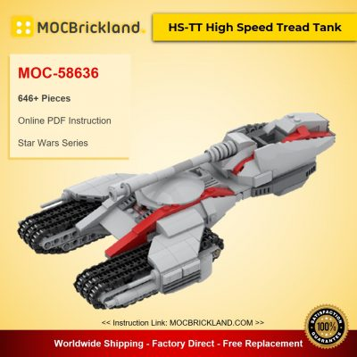 HS-TT High Speed Tread Tank MOC-58636 Star Wars Designed By Tjs_Lego_Room With 646 Pieces