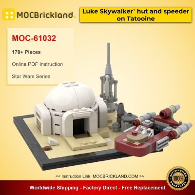 Luke Skywalker' hut and speeder on Tatooine MOC-61032 Star Wars Designed By u_brick With 178 Pieces