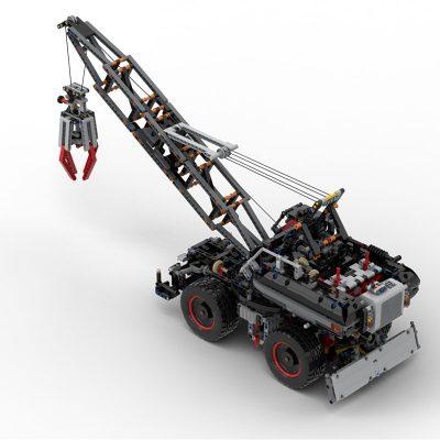 Wheeled Harbour Crane (42082 Rough Terrain Crane c-model) Technic MOC-63853 by klimax WITH 3310 PIECES