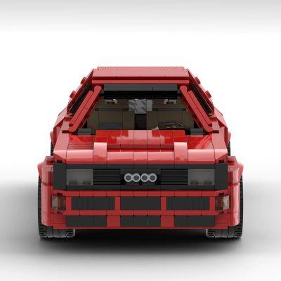 Audi Sport Quattro / Urquattro 1984 Technic MOC-65510 by Pingubricks WITH 1255 PIECES