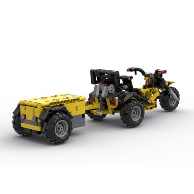 B-MODEL 42122 Lego Trike + Trailer Technic MOC-69073 by Roelof's Creations with 613 Pieces