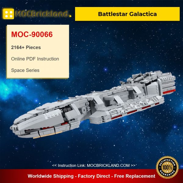 MOC-90066 Battlestar Galactica Space With 2164 Pieces