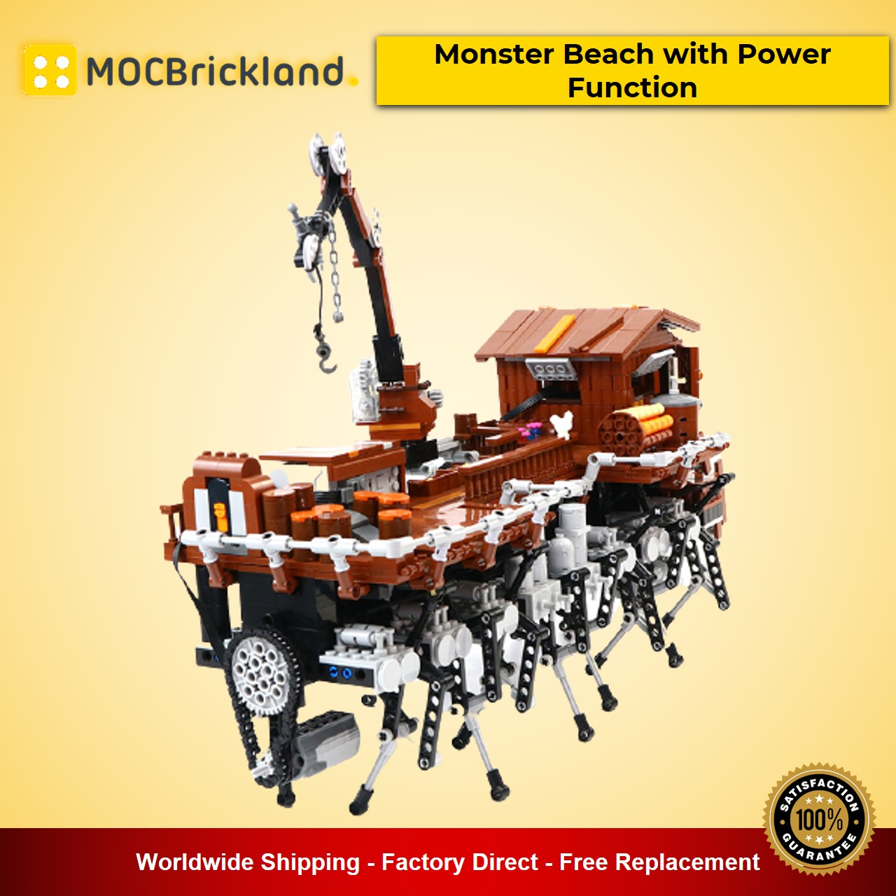 Monster Beach with Power Function MOC-90067 Movie With 1653 Pieces