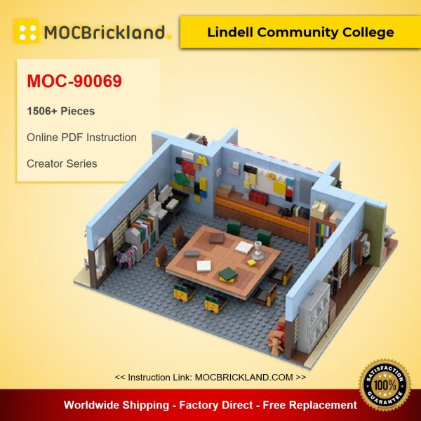 Lindell Community College MOC-90069 Creator With 1506 Pieces