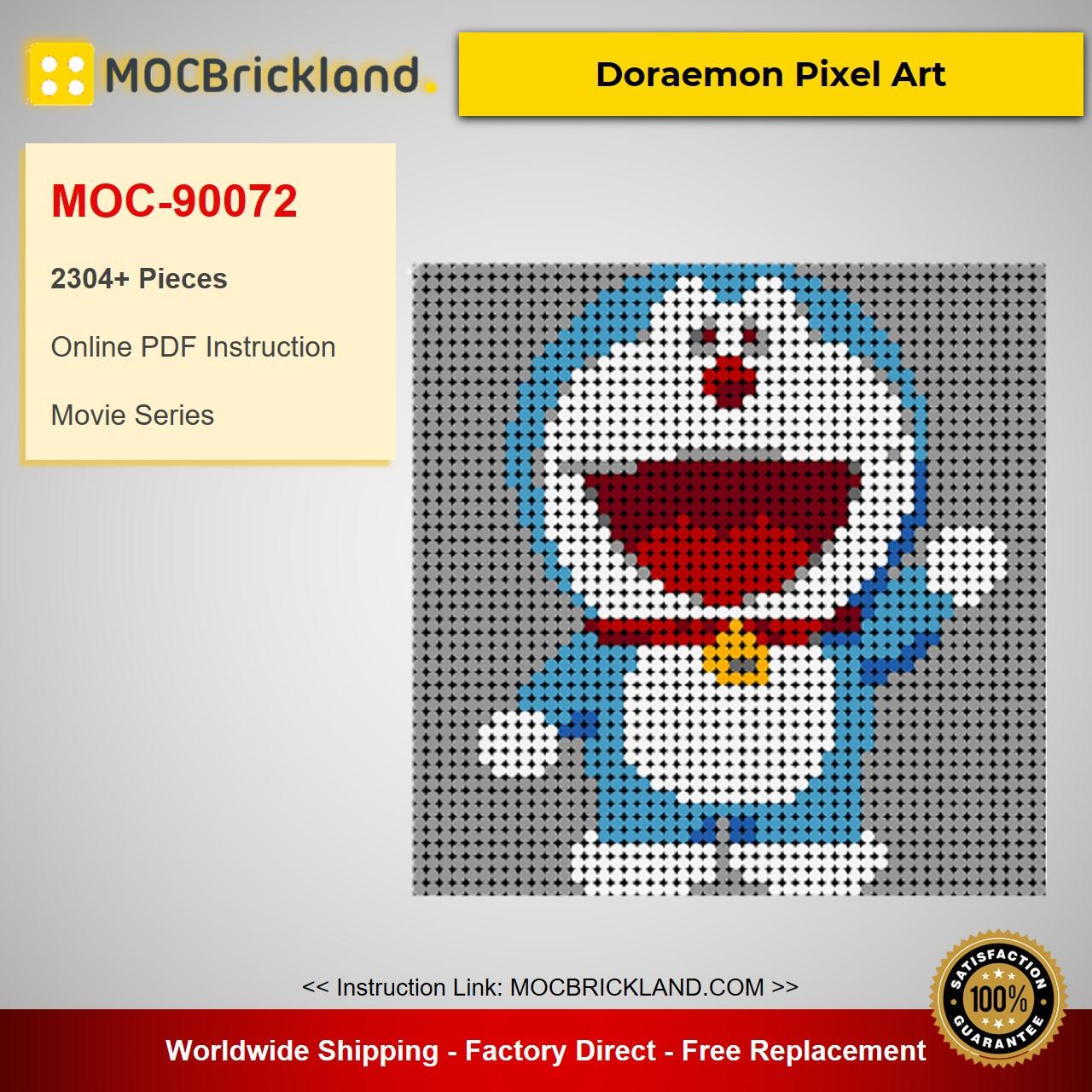 Doraemon Pixel Art MOC-90072 Movie With 2304 Pieces