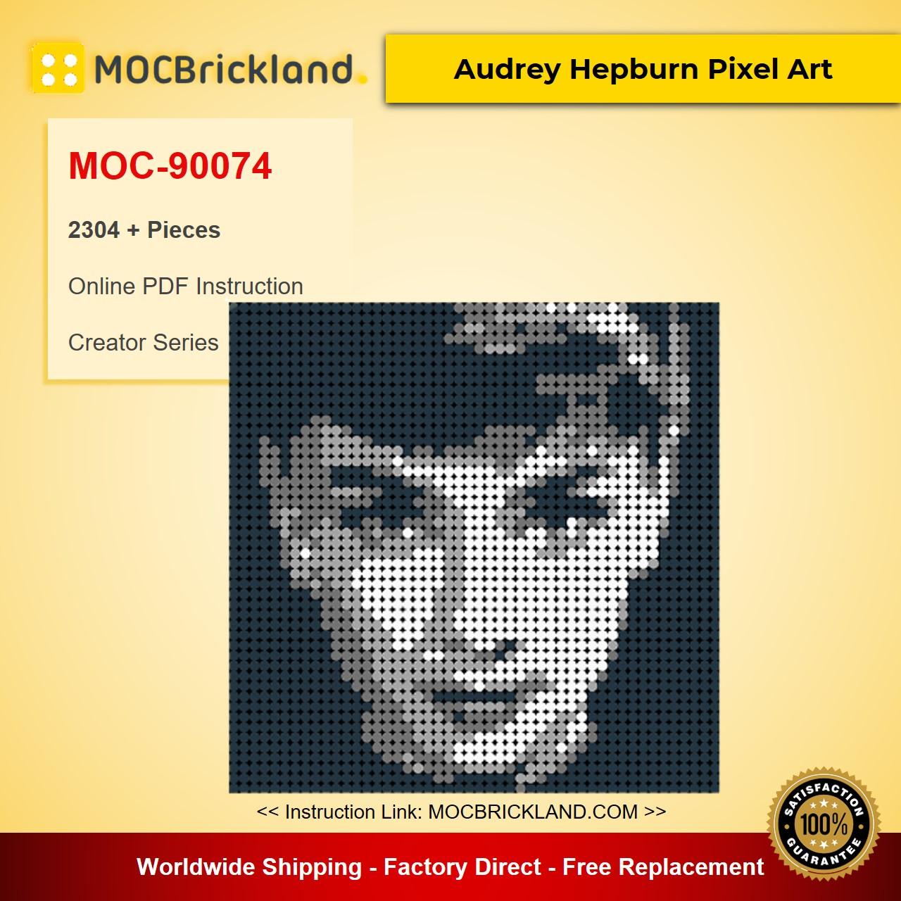 Audrey Hepburn Pixel Art MOC-90074 Creator With 2304 Pieces