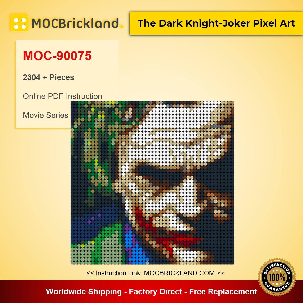 The Dark Knight-Joker Pixel Art MOC-90075 Movie With 2304 Pieces
