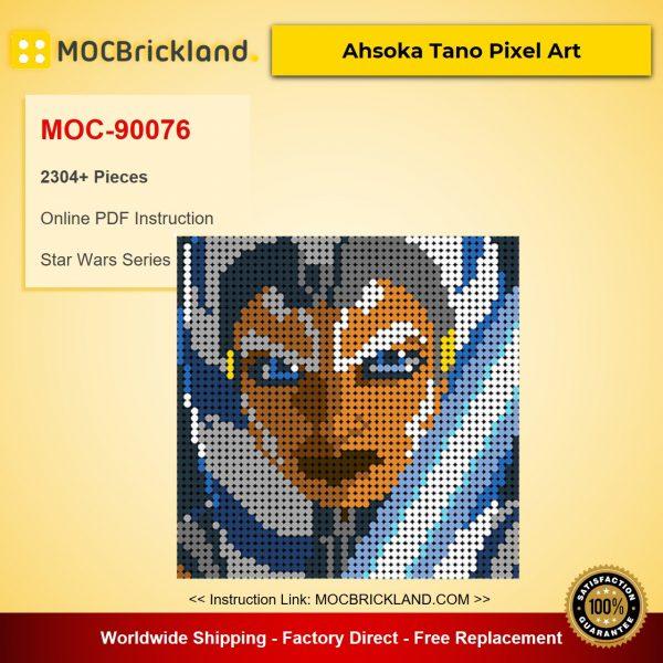 Ahsoka Tano Pixel Art MOC-90076 Star Wars With 2304 Pieces