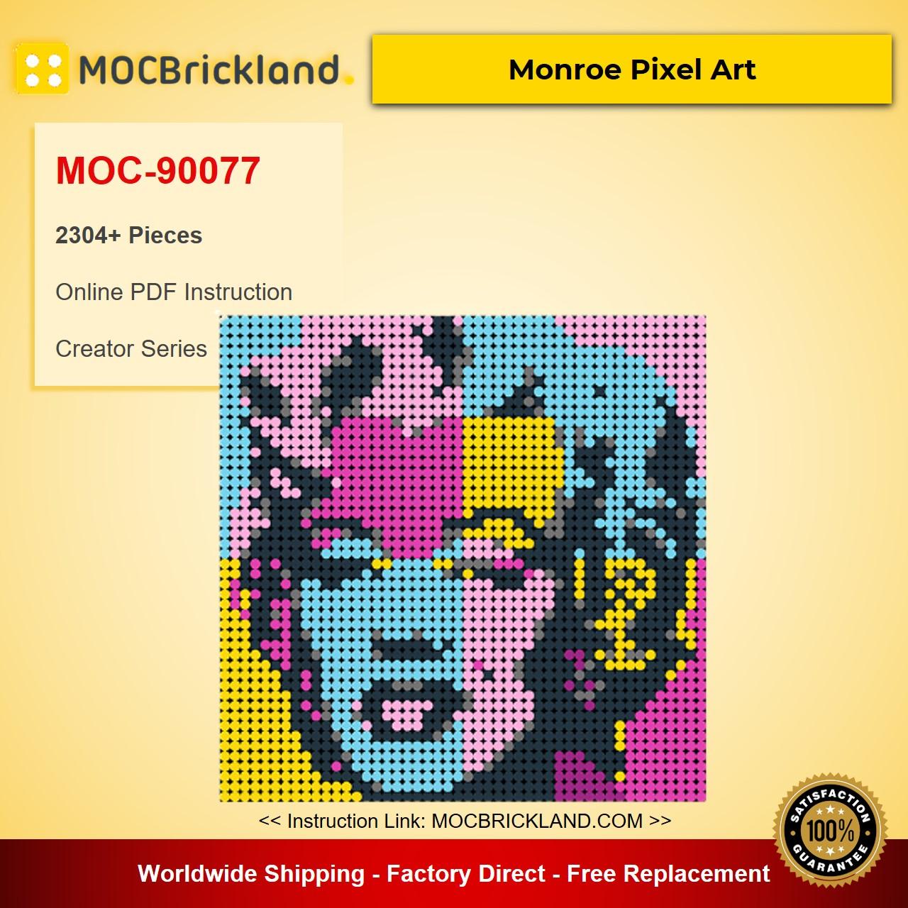MOC-90077 Monroe Pixel Art Creator With 2304 Pieces