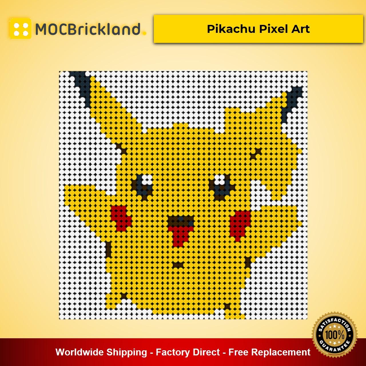 Pikachu Pixel Art MOC-90078 Movie With 2304 Pieces