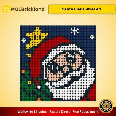 Santa Claus Pixel Art MOC-90079 Creator With 2304 Pieces