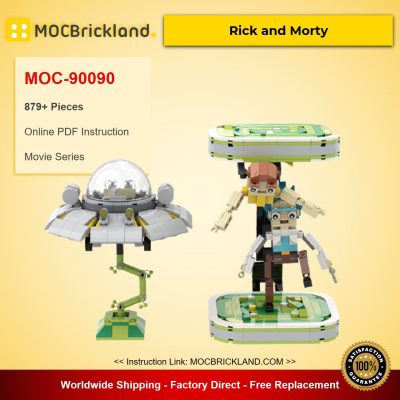 Rick and Morty MOC-90090 Movie With 879 Pieces