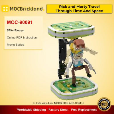 Rick and Morty Travel Through Time And Space MOC-90091 Movie With 579 Pieces