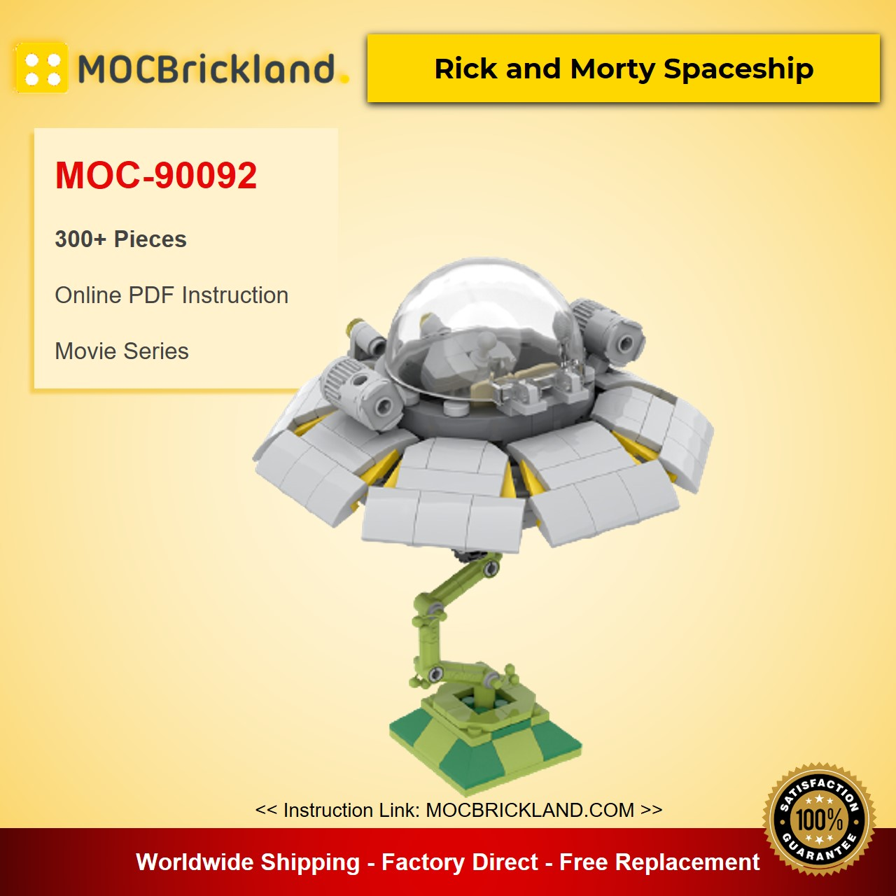 Rick and Morty Spaceship MOC-90092 Movie With 300 Pieces