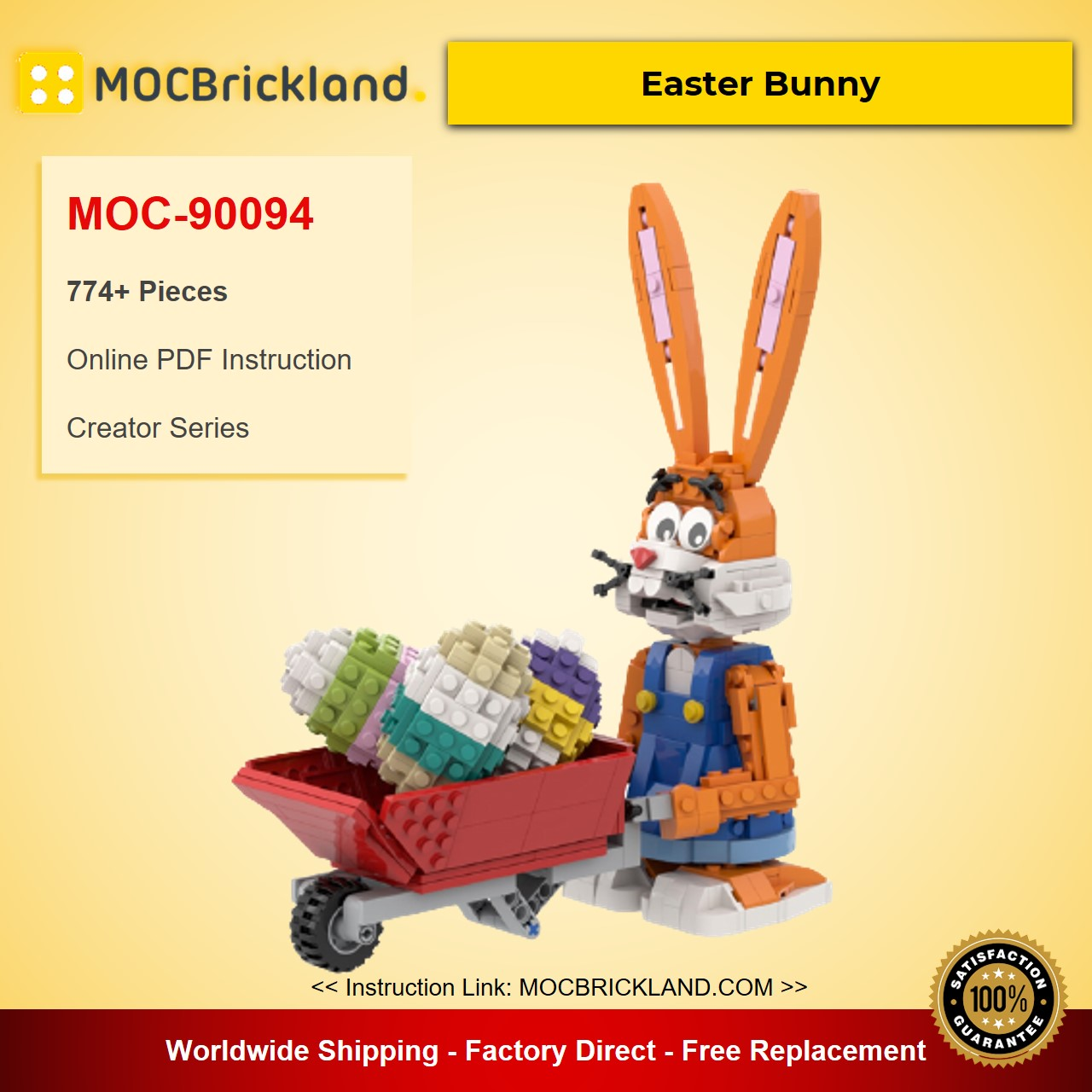 Easter Bunny MOC-90094 Creator With 774 Pieces