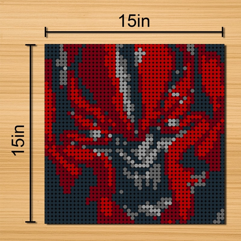 Red Spider-Pixel art Movie MOC-90100 WITH 2304PIECES